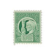 Qty of 20  1943 Unused Vintage Postage by vintagepostageshop, $7.50