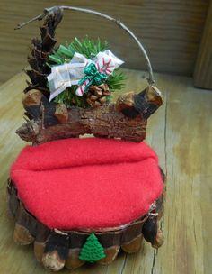 Fairy Bed Handmade Decorative Winter by FairyGardenMiniature