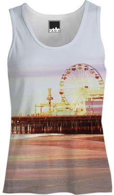 Santa Monica Pier Sunrise Tank Top for Women from Print All Over Me