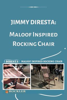 Jimmy DiResta builds a rocking chair in this video that is inspired by Sam Maloof. He demonstrates a lot of very helpful techniques, such as hand sculpting and filling cracks. Watch this incredible build here!  #createwithconfidene #jimmydiresta #sammaloof #rockingchair