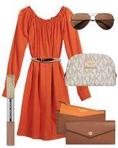 Michael Kors  Exclusive Raglan Dress, Kennedy Sunglasses, Original Eau de Parfum Rollerball & Lip Gloss Duo & Large Cosmetic Case