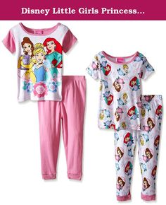 Disney Little Girls Princesses Know Knowledge Is Power 4-Piece Pajama Set Pink/White 4T. Our favorite Disney princesses are encouraging all little girls to be curious and learn new things with these fun sleepwear sets! embrace your daughter's budding curiosity with these empowering graphics to serve as a nightly reminder! perfect for sleeping, lounging, and having fun teaching your little one everything there is to know.