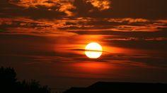 Sunset over Prestwick beach