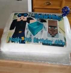 Alfie's DanTDM cake