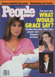 People - Cover - September 28, 1987 - Princess Caroline with newborn baby Pierre