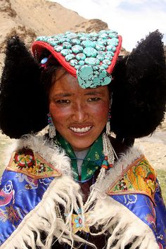 Music, dances and traditional dress of the Ladakhi people at Korzok village, India  #world #cultures