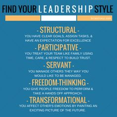The job of a leader is to get goals, projects, and challenges done by leading others to success. In doing so, it is important to develop several leadership styles that suit different situations and different needs of a team. Here are the 5 leadership styles that you should develop in order to inspire your team to deliver their peak performance. Which one is your favorite, and which one do you believe is the most difficult to learn?