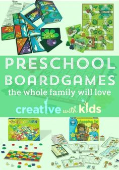 Preschool board games that everyone will want to play