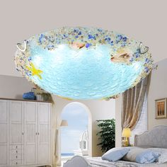 Aliexpress.com : Buy Children lamp Shell Ceiling Lamps Bedroom Balcony Corridor Kids Room Creative Ocean Fish Shells glass LED ceiling lights ZA from Reliable ceiling lights suppliers on Shop3004062 Store