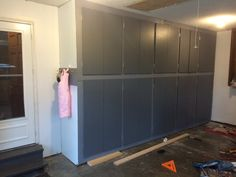 how to make your own DIY Garage Storage Cabinets - great organization solution!.