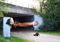 Cantone, Umbria: nuovo pezzo degli street artist italiani Cheone & Mor.