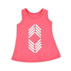 Racerback Tank with Chevron Print - mini mioche - organic infant clothing and kids clothes - made in Canada