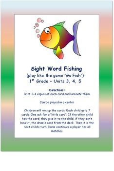 Worksheets Sample Reading Materials For Grade 3 reading street a trip to washington d c unit 4 week 3 the game go fish for grade units and 5 in material i used high frequency words from these plus a