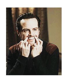 The hell are you doing, Andrew?! LOL! He's so cute! (gif)