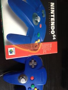 Nintendo 64 Gamepad Controller In Blue For N64 With Box And Packaging