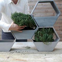 D&M - Hive Grey Planter £30