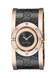 46251aff6a3 Gucci Twirl Analog Display Swiss Quartz Black Women s Watch(Model YA112438)  Review