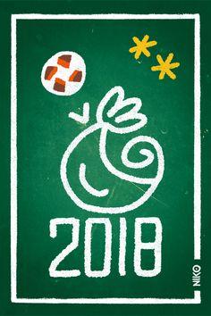 NIKO – Illustrateur › La France, championne du monde de foot (vert)