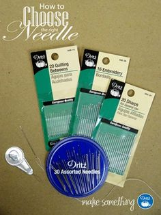 How to choose the right handsewing needle :) #sew @Dritz Sewing