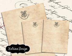 Harry Potter Hogwarts Letter Paper Pack Vintage Writing Paper instant download