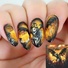 Avenged Sevenfold - Hail To The King by seizethenail  #nail #nails #nailart