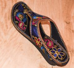 f0c0e554ffa6 MULTI- COLOR RAJASTHANI EMBROIDERY DESIGNER US WOMEN S SLIPPER SANDAL FLIP-FLOP   fashion  clothing  shoes  accessories  womensshoes  slippers (ebay link)