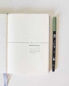 51 Of The Best Minimalist Bullet Journal Spreads : You Need To See This! Bullet Journal Inspo, Bullet Journal Notebook, Bullet Journal Ideas Pages, Journal Pages, Bullet Journals, Schul Survival Kits, Minimalist Bullet Journal Layout, Bullet Journal Monthly Spread, Organizer