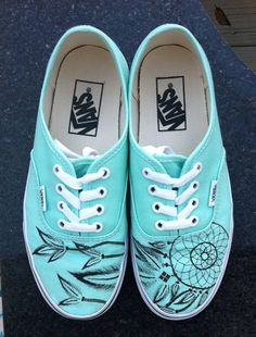 Dream Catcher Vans by VuVuDesigns on Etsy, $84.00