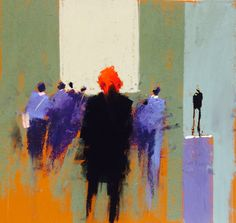 The girl with red hair at the Tate, by Tony Allain