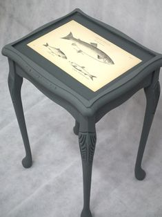 """Reused Furniture coffee table! painted it """"wroght iron"""" & details done with le dirt"""