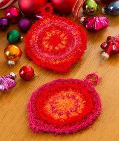 Retro Ornament Scrubby Free Crochet Pattern in Red Heart Yarns