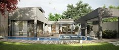 House with Pool Renders