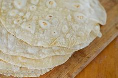 This recipe is for simple to prepare and incredibly flavorful flour tortillas with the added health benefits of sourdough.