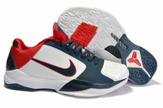 Air Foamposite Nike Zoom Kobe 5 USA White Obsidian Blue Varsity Red [Nike Zoom Kobe 5 - Obviously, this Nike Zoom Kobe 5 USA White Obsidian Blue Varsity Red shoe owns America's red, white and blue color scheme; however, its color blocking is very nice Nike Shoes, Sneakers Nike, Nike Zoom Kobe, Nike Foamposite, Ken Griffey, Blue Color Schemes, Foam Posites, Red Shoes, Asics