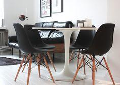 Via Auroran Henkarit | Black and White | Saarinen Table | Eames