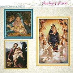 Goedkope Heilige moeder & heilige zoon serie (4) schilderen geteld of…