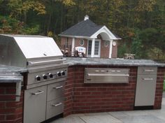 Red Brick Outdoor Kitchen