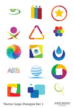 Vector Logo Designs Set 1 by Are Lorenz Bergonia, via Behance