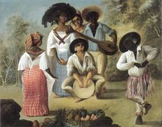 attributed to Augustin Brunias century) - Danse d'esclaves Black History, Art History, History Books, Colonial Art, Cuba, Caribbean Art, Portraits, Native American Tribes, Musical