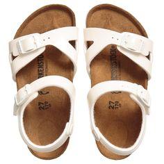 8ee2111e2362 BIRKENSTOCK Girls Glittery Ivory  Rio  Sandals Birkenstock Sandals