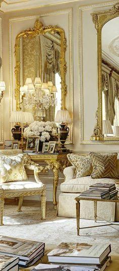 Frech Style - love it  -  via Christina Khandan - Irvine California - www.IrvineHomeBlog.com