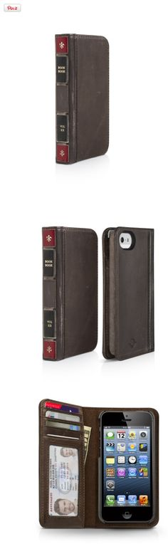 Twelve South BookBook for iPhone 5/5s - Genuine Leather iPhone Case and Wallet (ledger brown), BookBook for iPhone 5 is the latest installment in our library of BookBooks.