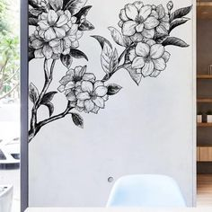 Decorate your home with this floral hand painted vinyl decal:This beautiful wall decal allows you to personalize your home with your own style without too much effort. Product Size:24'' x 36'' (60 x 90 cm)Overall Size (approx): 54.3''W x 47.2''H (138 cm X 120 cm) 2 sheets included  Decorate interior walls or windows of