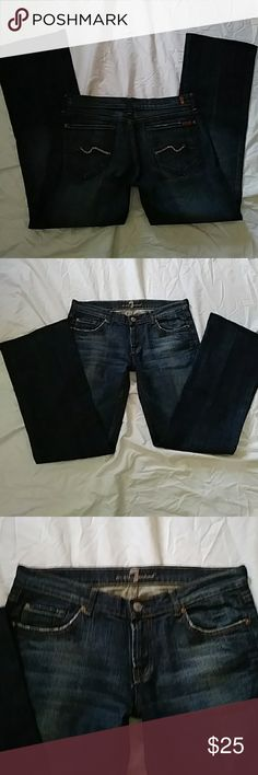 7 for all mankind jeans with pink bling Amazing 7 for all mankind jeans with pink bling on the back. Totally cute jeans that will look great with anything. These jeans are in amazing shape!!! 7 For All Mankind Jeans