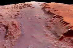 Vista del planeta Marte desde Europa, Gran Cañon de Marte