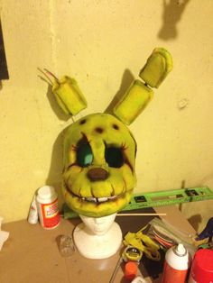 starting paint cosplay diyfnaf cosplayspringtrap costumefnaf costumehalloween
