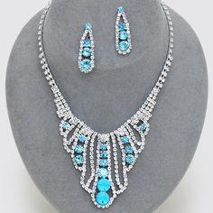 Libby Rhinestone Necklace Set