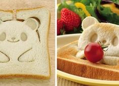 Intelligent Toast Stamp Turns Your Bread Into Cute Teddy-Bears Evidently Japanese designers are usually not going to surrender their stable place in arising with intelligent, but easy kitchen ware. At the moment w. Breakfast For A Crowd, Breakfast In Bed, Breakfast Ideas, Eggs In Crockpot, Healthy Low Calorie Breakfast, Japanese Inventions, Cute Teddy Bears, Shaped Cookie, Cute Food