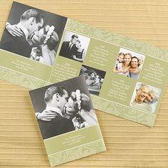 Golden Florals Photo Storyline - Invitation weddingneeds.carlsoncraft.com