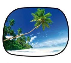 Sonnenschutz Seitenfenster selbsthaftend 45 x 34 cm - Motiv Strand Strand, Solar Shades, Windows